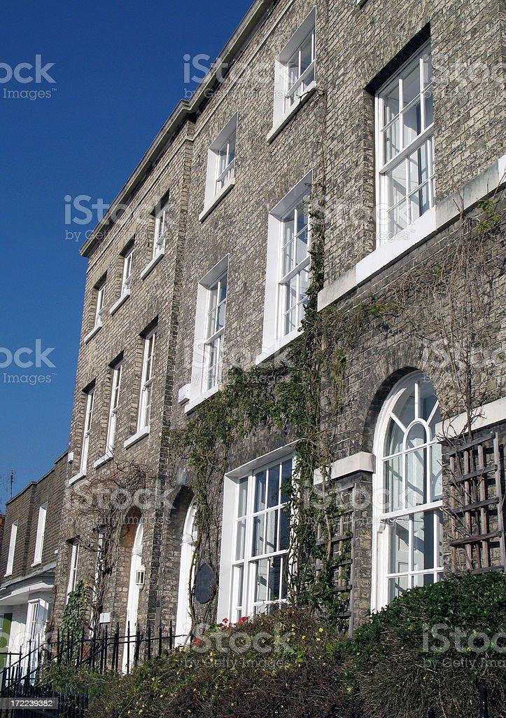 Georgian houses stock photo