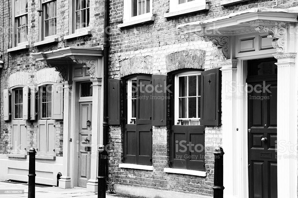 Georgian Huguenot terraced houses stock photo