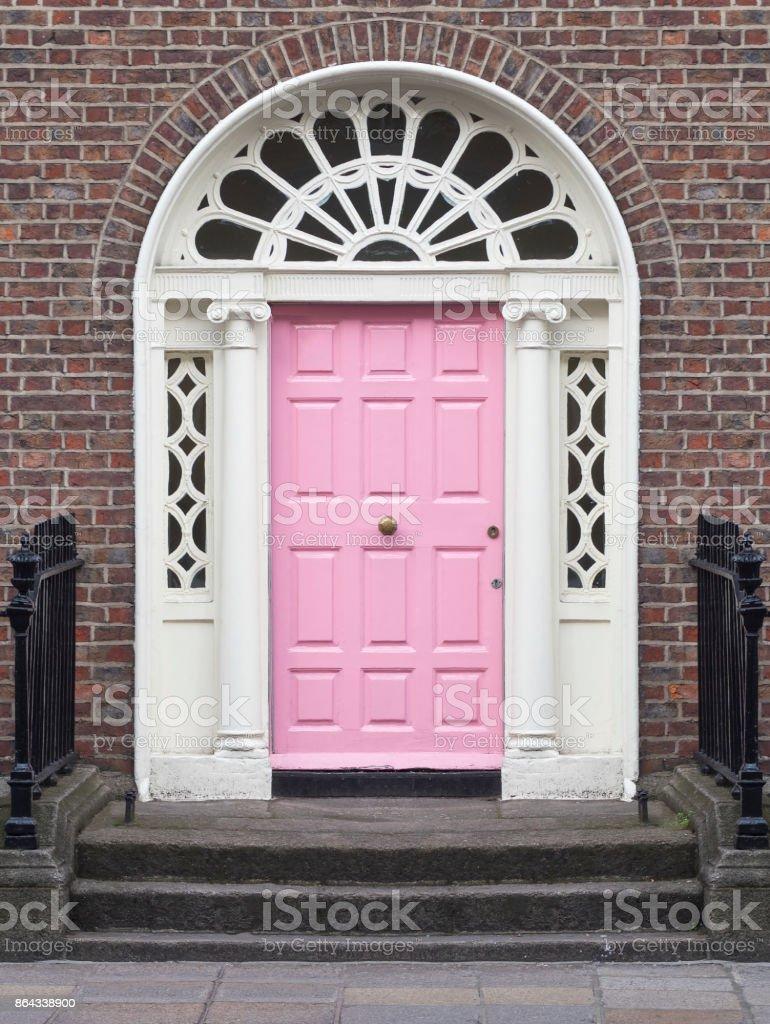 Georgian Pink Door Dublin Ireland Stock Photo & More Pictures of ...