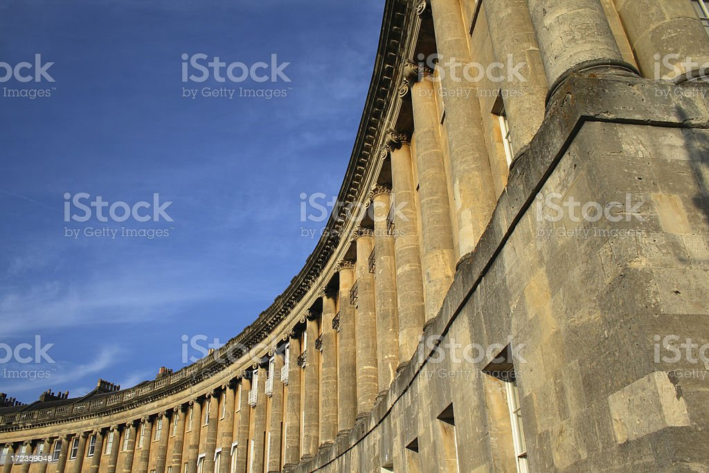 Georgian Royal Crescent - Bath, England royalty-free stock photo