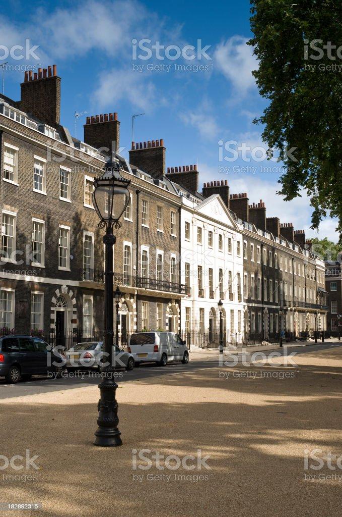 Georgian Square, London royalty-free stock photo