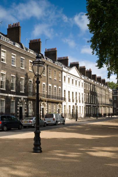 Georgian Square, London stock photo