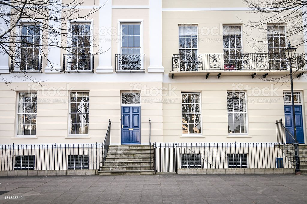 Georgian Style Terraced Town Houses In Cheltenham, England royalty-free stock photo
