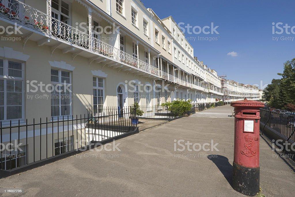 Georgian Terrace With Pillarbox stock photo