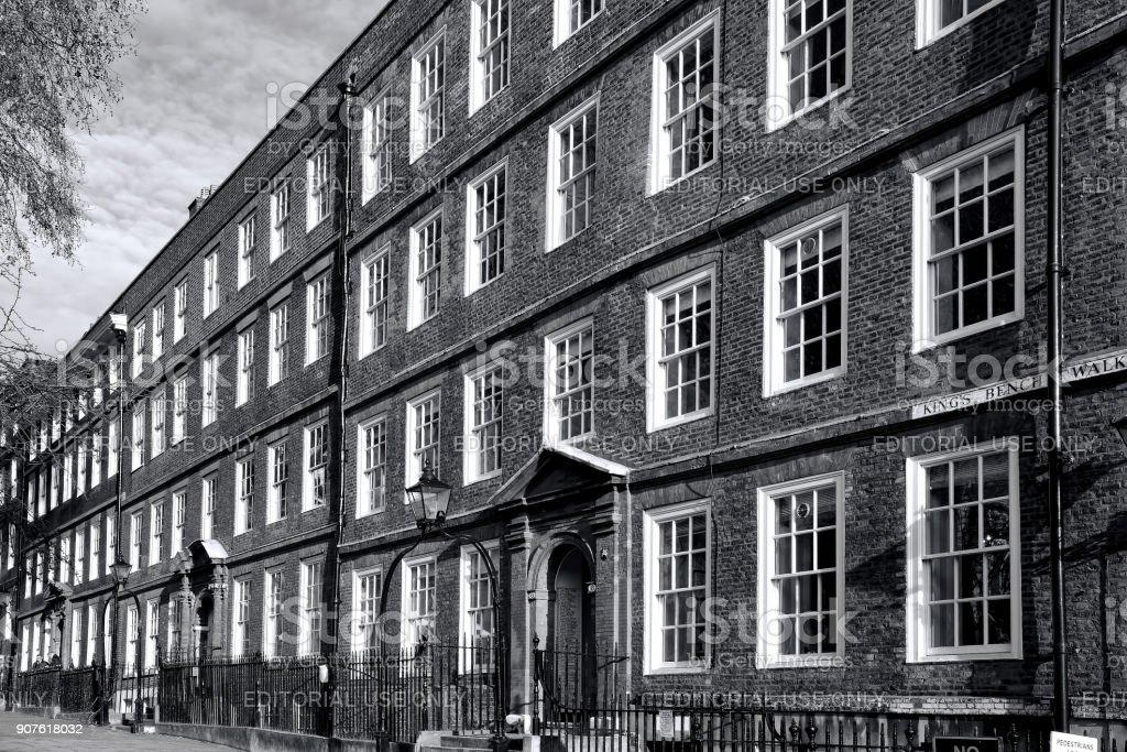 Georgian terraced barrister chambers stock photo