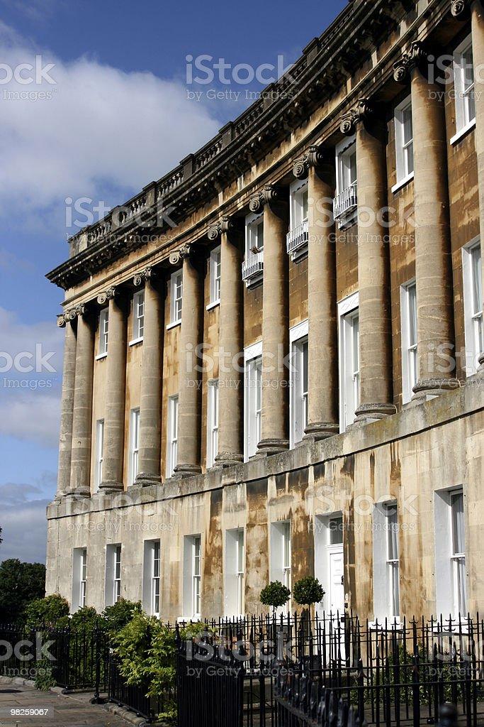 Georgian terraced houses royalty-free stock photo