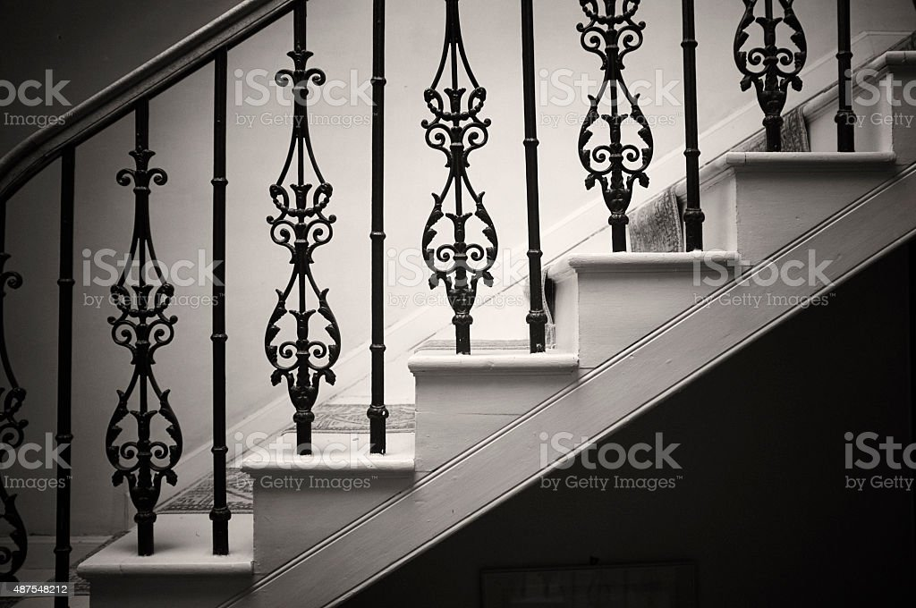 Georgian Wrought Iron Bannister stock photo