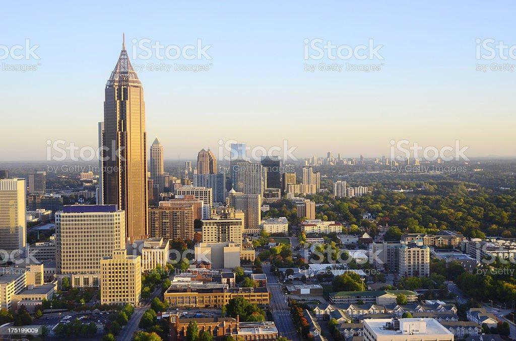 Georgia's beautiful skyline in Atlanta royalty-free stock photo