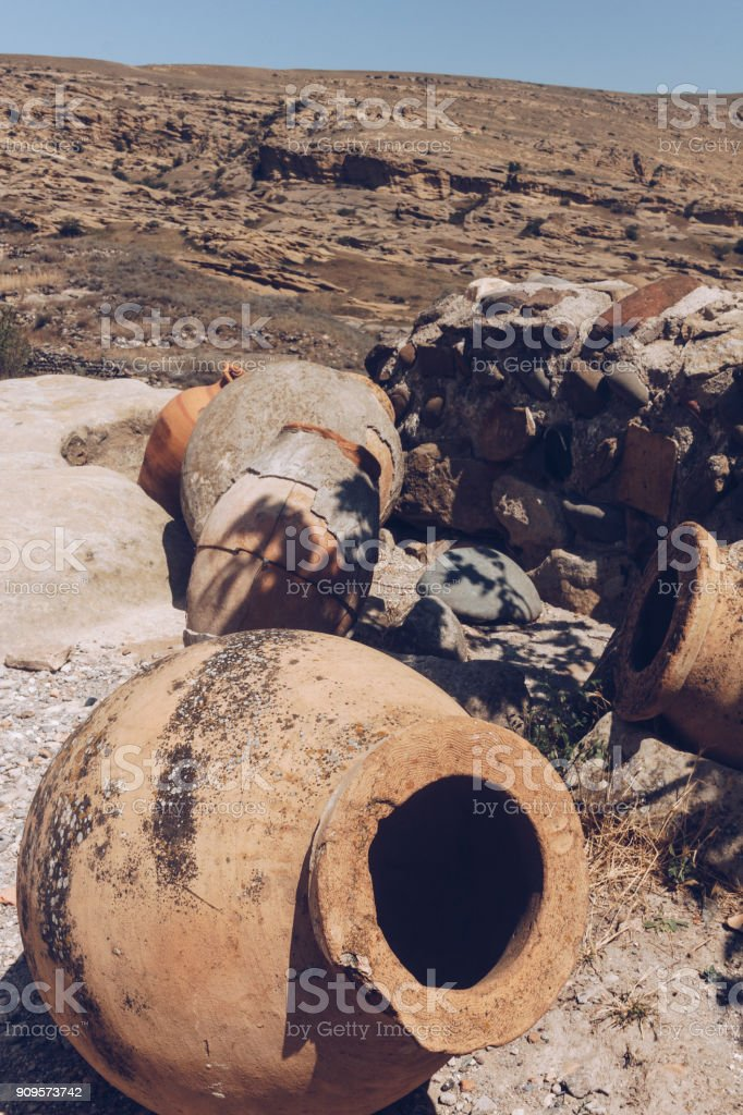Georgia's Giant Clay Pots Hold An 8000-Year-Old Secret To Great Wine - Caucasus. stock photo