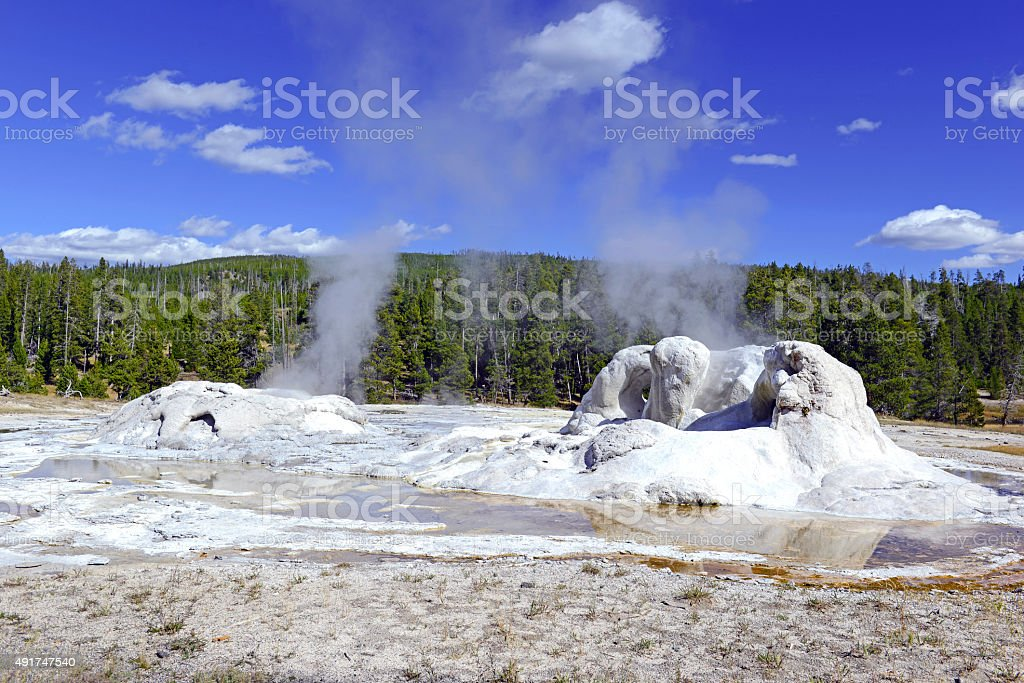 Geothermal activity in Yellowstone National Park, Wyoming stock photo