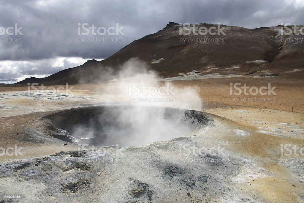 Geothermal activity royalty-free stock photo