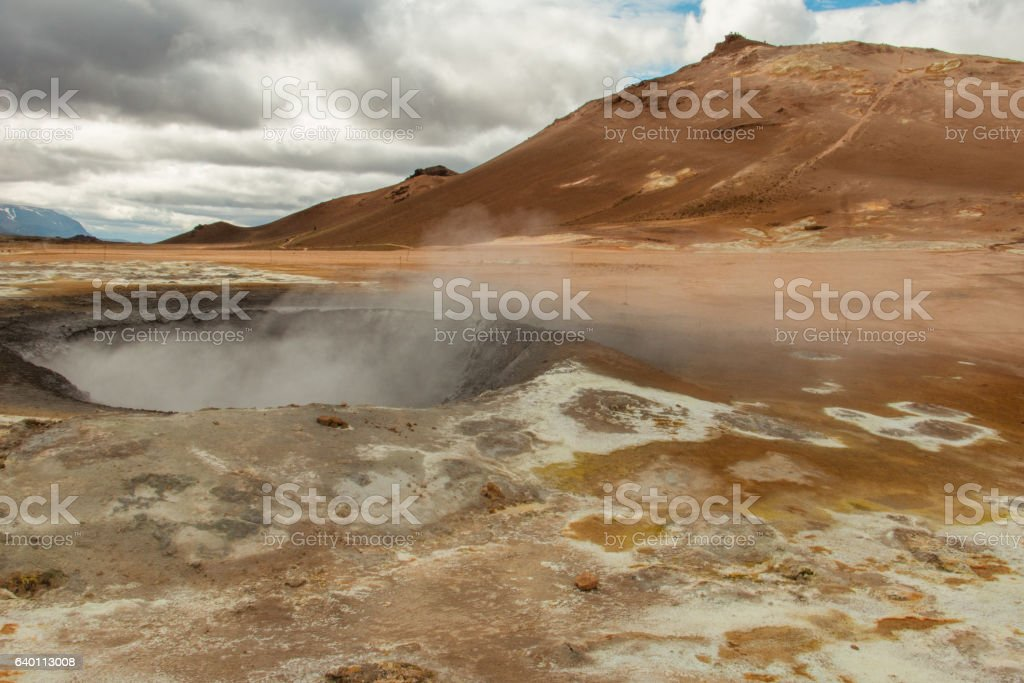 Geothermal area, Dimmuborgir, Iceland stock photo