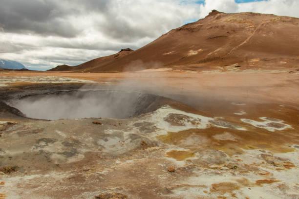 Geothermal area, Dimmuborgir, Iceland stock photo