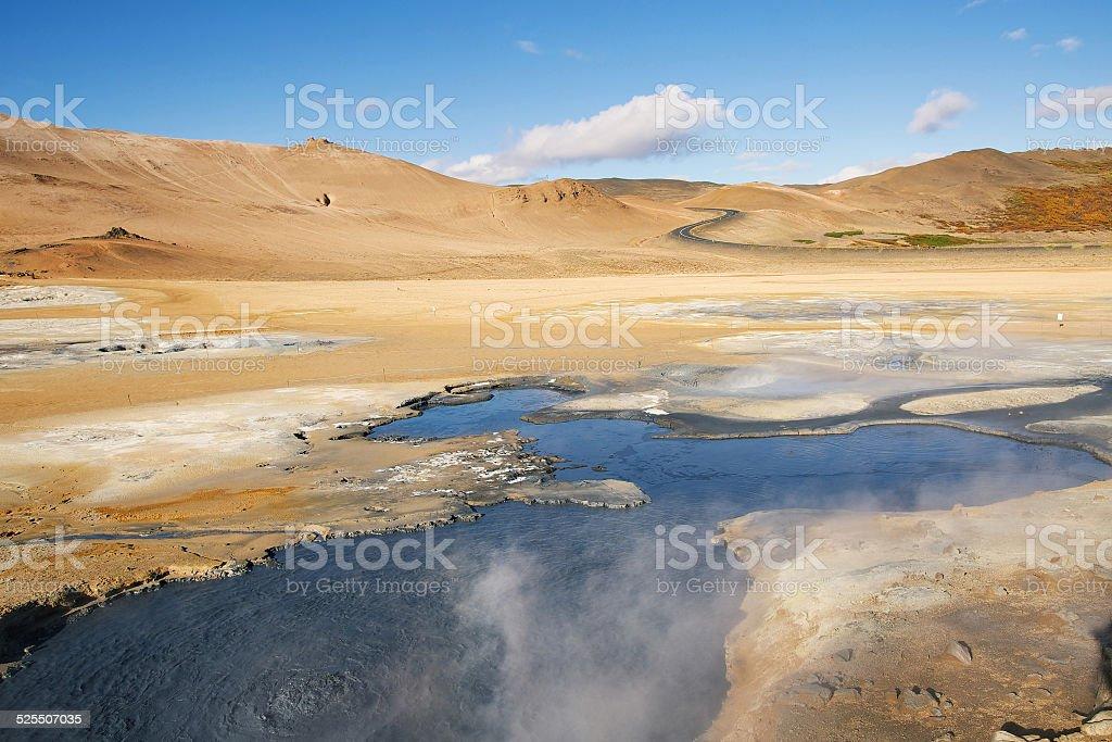 Geothermal Area Hverir stock photo