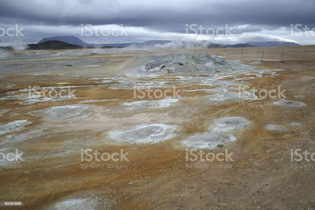 Geothermal area in Iceland royalty-free stock photo