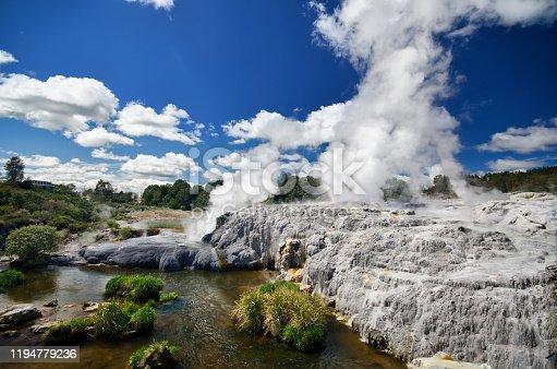 Geothermal area in Rotorua - Te Puia