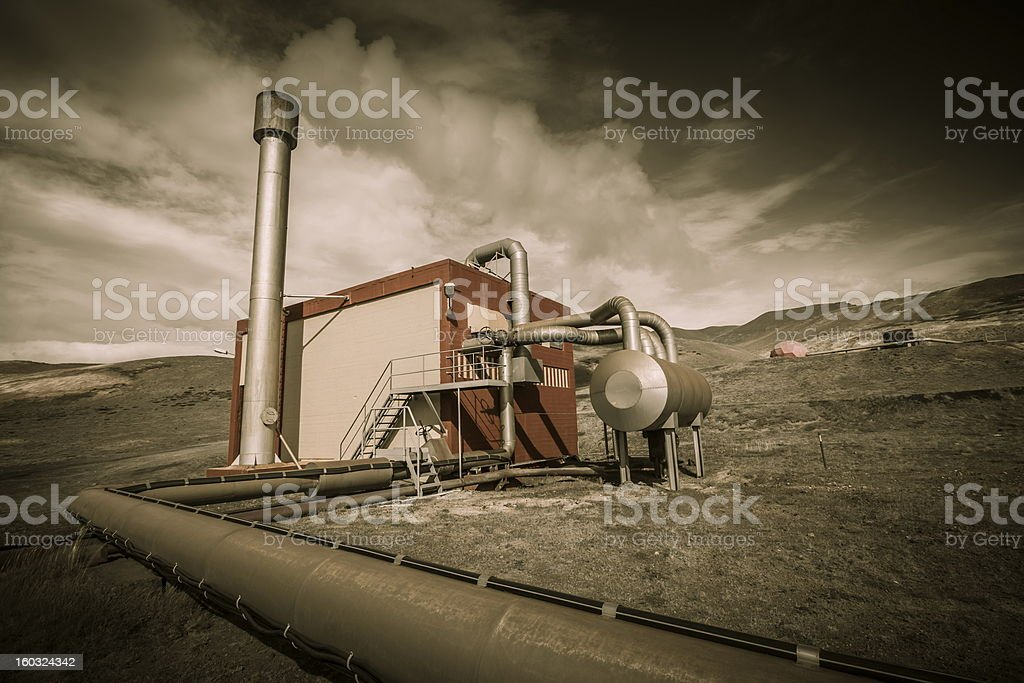 geothermal energy royalty-free stock photo