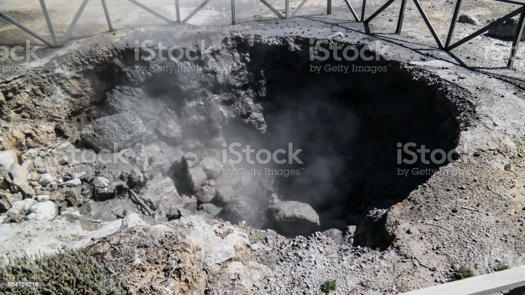 Geothermal fields near Furnas lake, Sao Miguel, Azores, portugal royalty-free stock photo