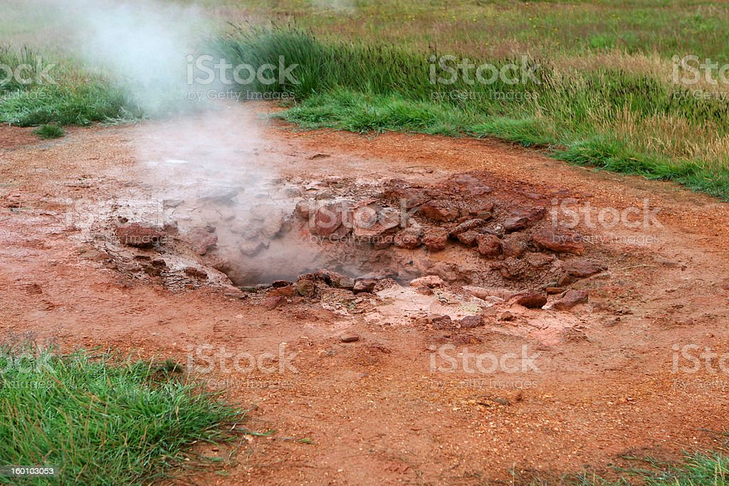 Geothermal hot spring 03 royalty-free stock photo