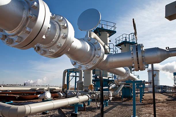 geothermischen power - luftventil stock-fotos und bilder