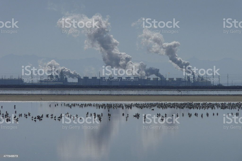 Geothermal Power Plant at the Salton Sea stock photo