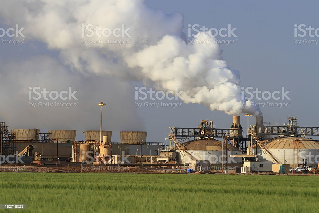 Geothermal Power Plant Daytime Horizontal royalty-free stock photo