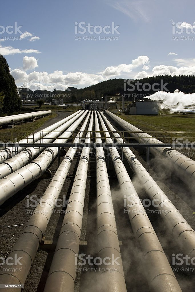 Geothermal Power Plant royalty-free stock photo