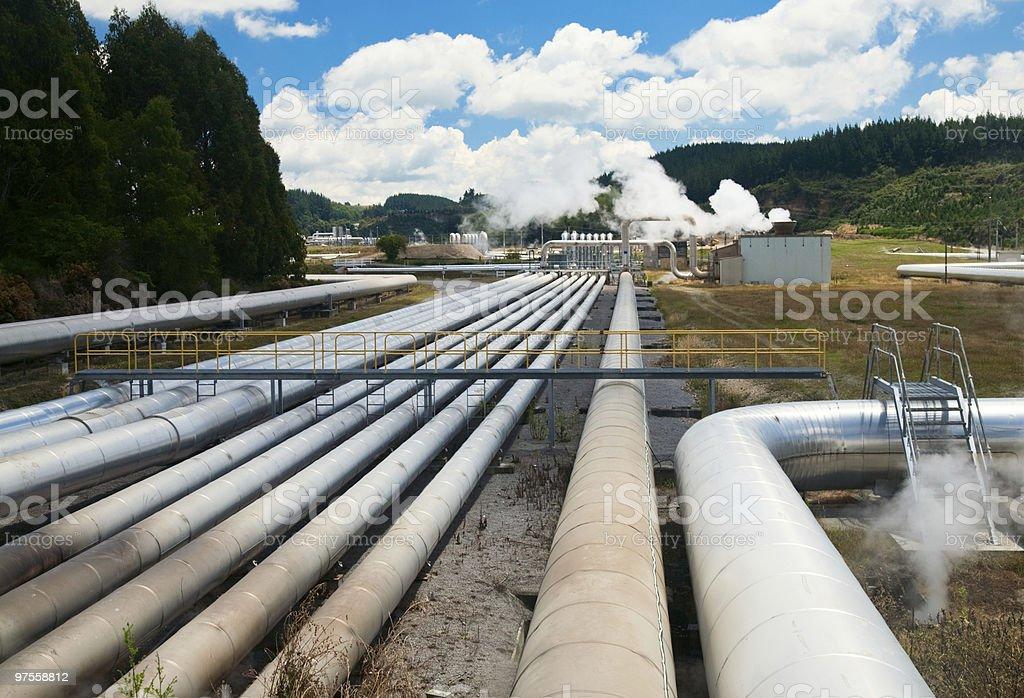 Centrale géothermique photo libre de droits