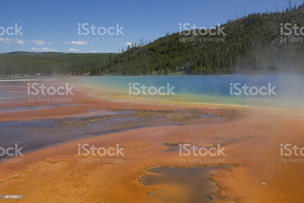 Geothermal Spring at Yellowstone National Park stock photo