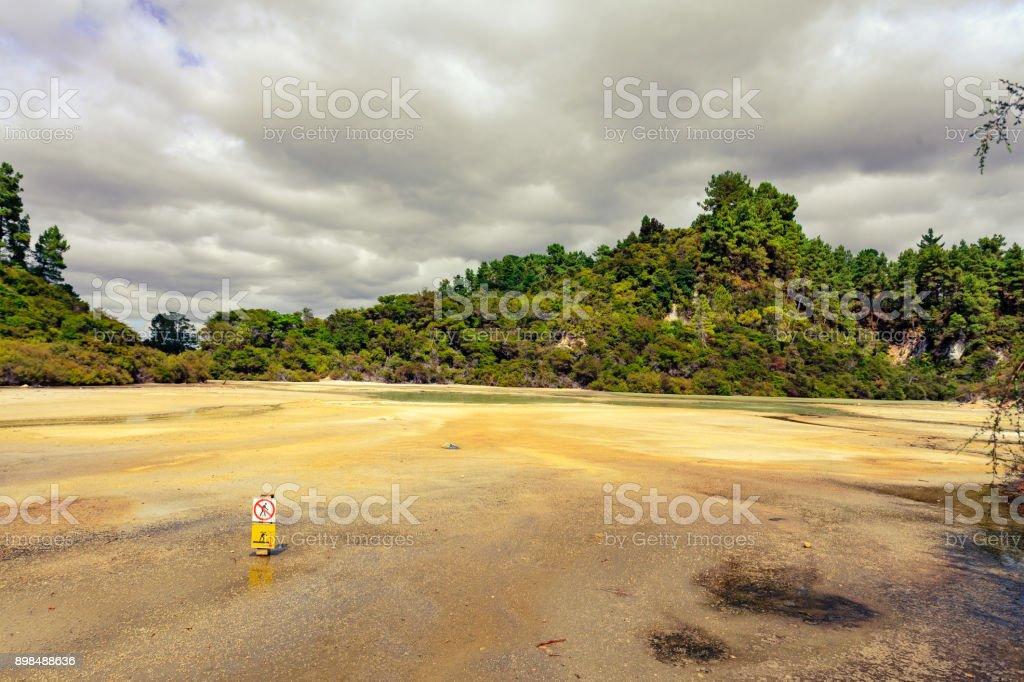 geothermally park New Zealand stock photo