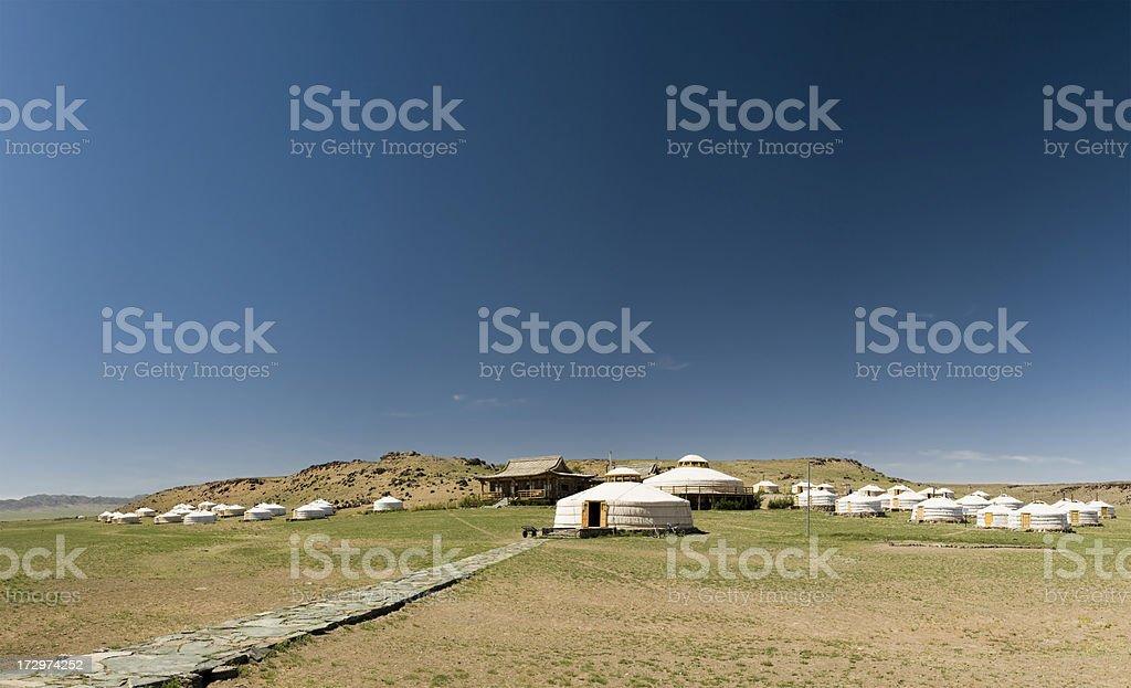 Ger Camp in Gobi Desert royalty-free stock photo