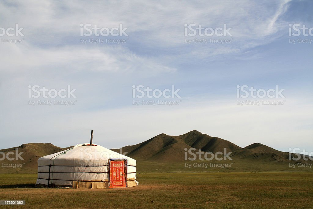 Ger Tent in Mongolia stock photo