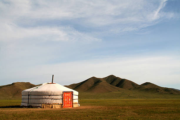 Ger Tent in Mongolia A Mongolian Ger tent.See my other images from Mongolia: independent mongolia stock pictures, royalty-free photos & images