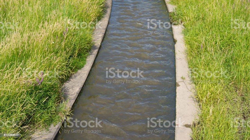 Gerader Flusslauf stock photo