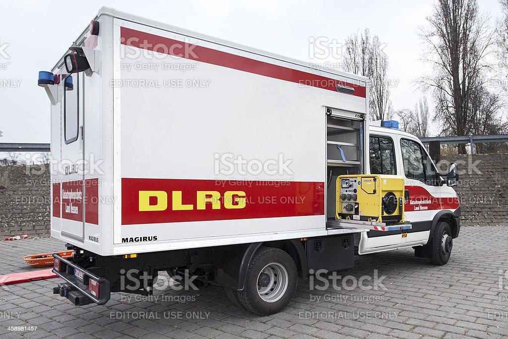 Geraetewagen Wasserrettung (GWW) - DLRG royalty-free stock photo