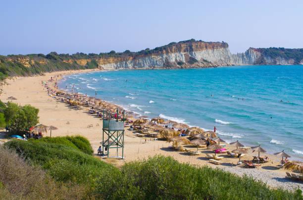 Gerakas beach on Zakynthos island, Greece stock photo