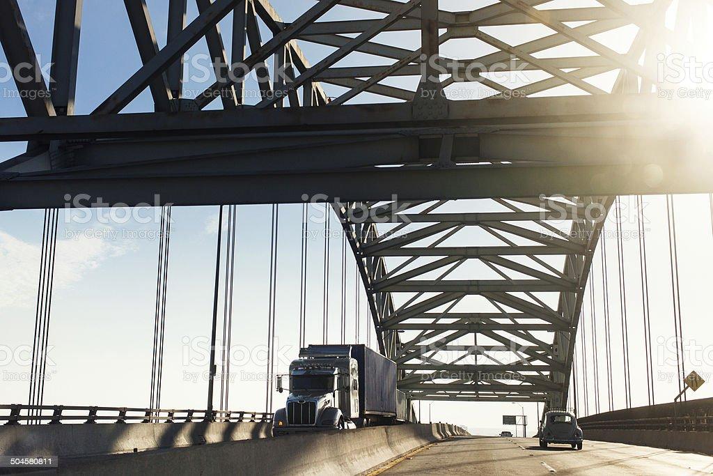 Gerald Desmond Bridge stock photo