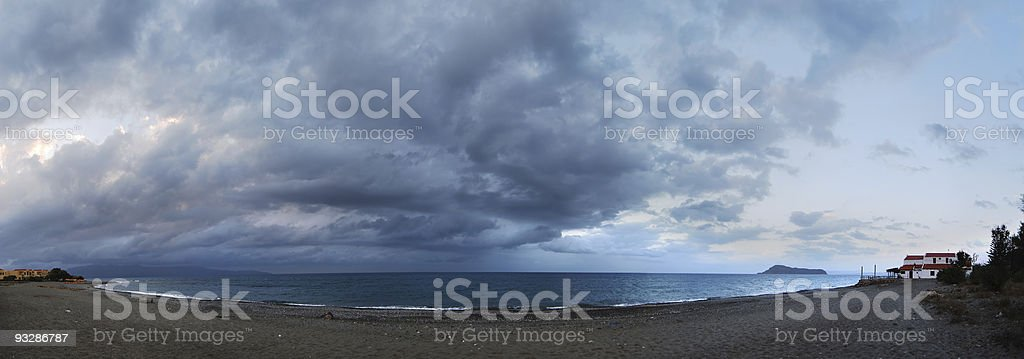 Gerani storm panorama royalty-free stock photo