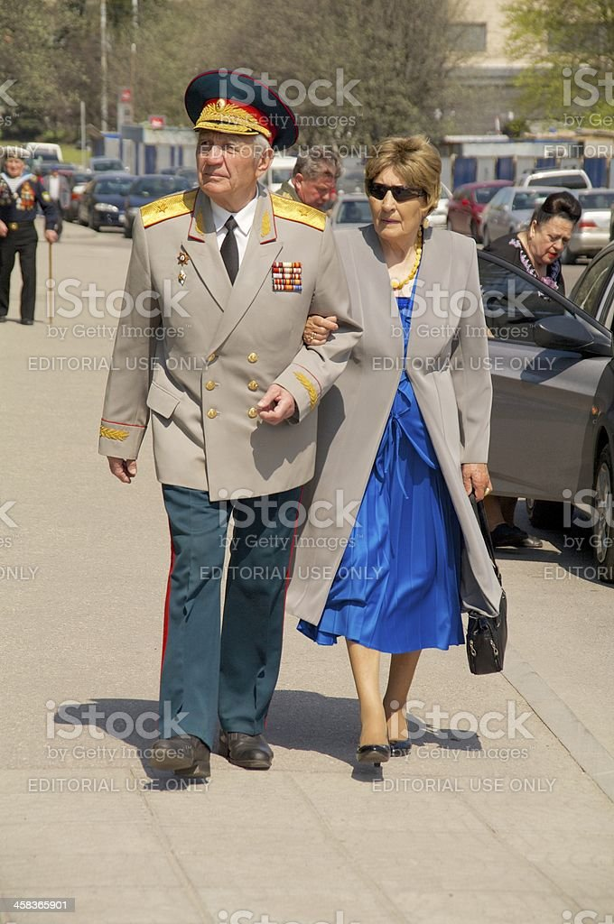 gereral veterans of the World War II royalty-free stock photo