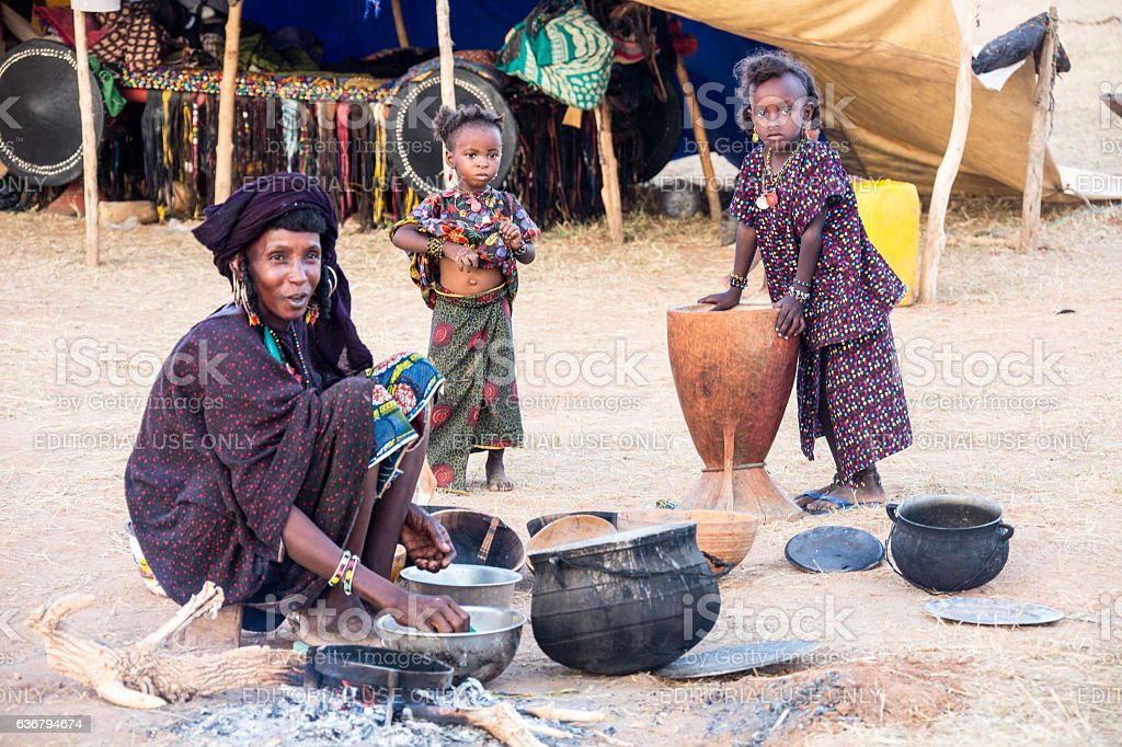 Gerewol Festival Peul nomads Niger stock photo