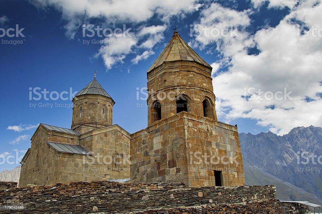 Gergeti Trinity Church royalty-free stock photo