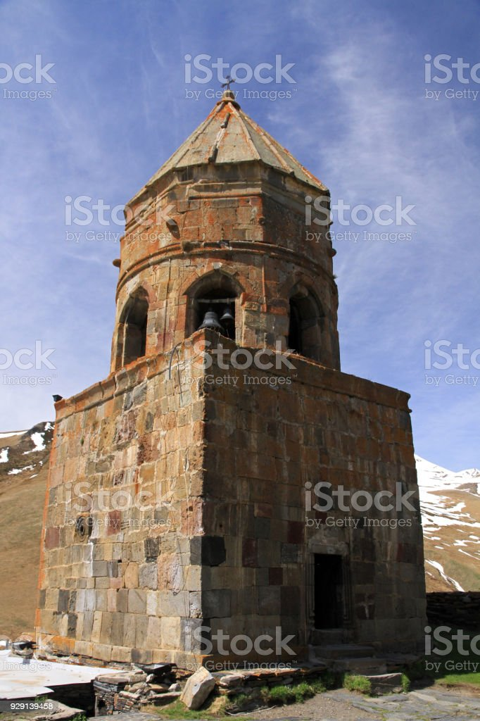 Gergeti Trinity Church stock photo
