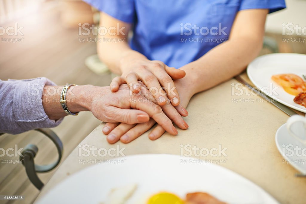 Geriatric care requires a bit of added sensitivity and thoughtfulness stock photo