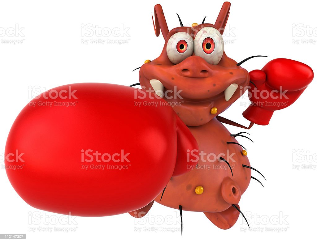 Germ boxing royalty-free stock photo