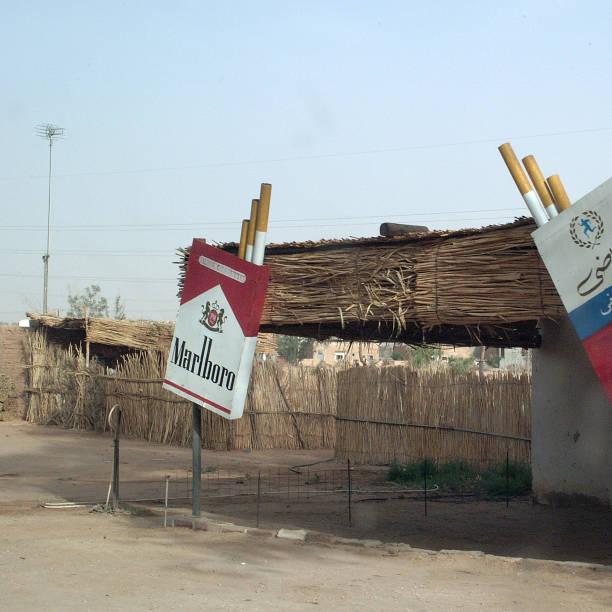 germa, libya - cigarettes in duty free foto e immagini stock
