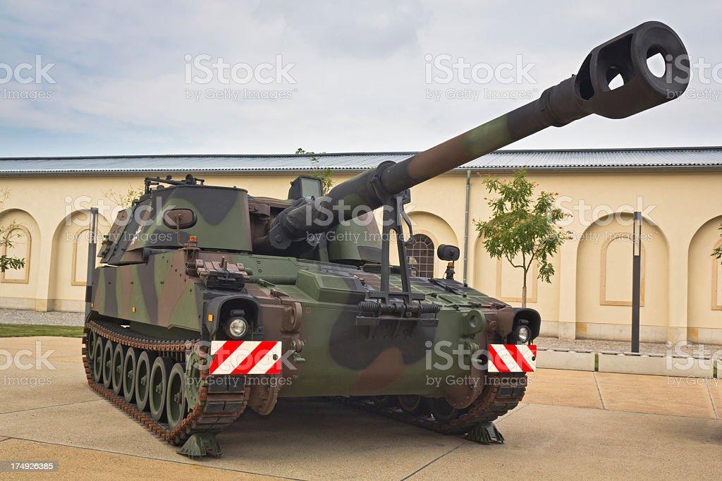 German 155 mm self-propelled howitzer royalty-free stock photo