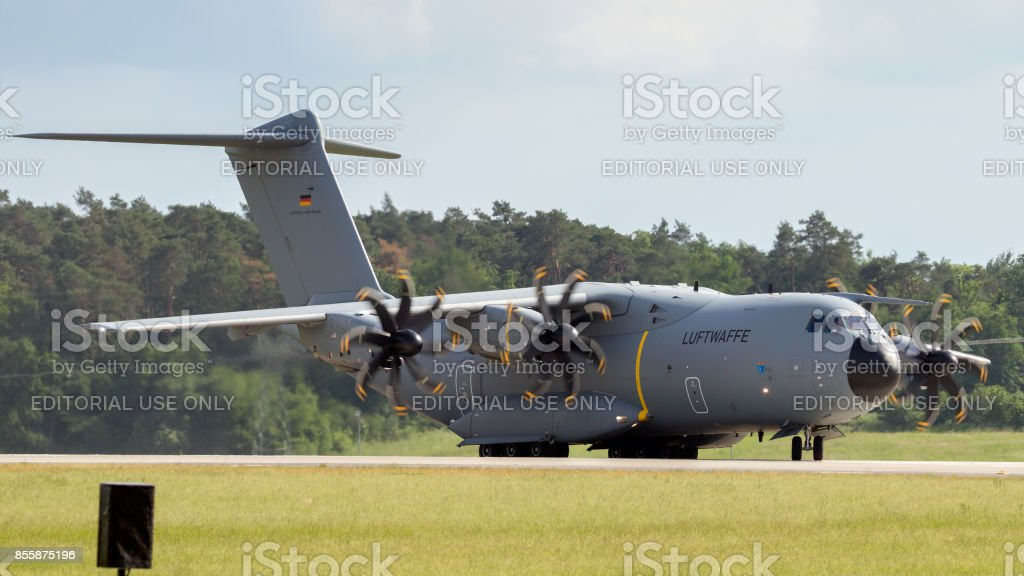 German Air Force Airbus A400m Cargo Plane Stock Photo - Download