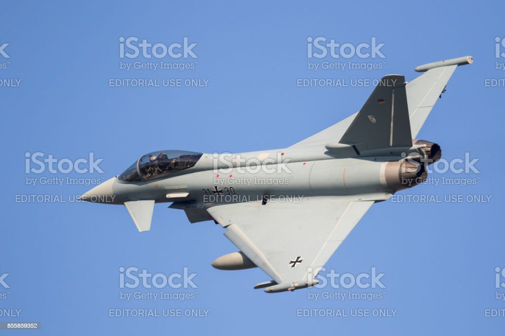 German Air Force Eurofighter Typhoon fighter jet stock photo