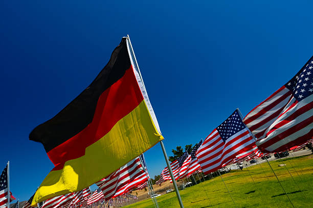 german american relations - deutschland usa stock-fotos und bilder