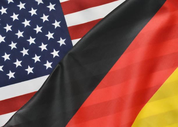 allemand et relations américaines - drapeau allemand photos et images de collection